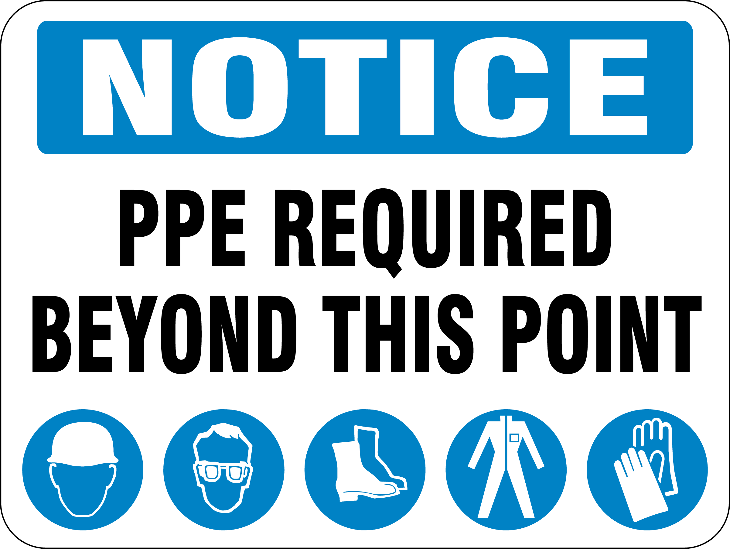 PPE Required Sign