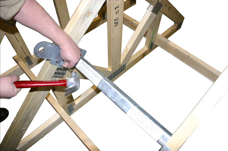 Tritruss Woodframe Permanent Roof Anchor Safety